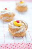 Zeppole san giuseppe typical sweet Italian Stock Photos