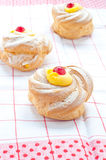 Zeppole san giuseppe typical sweet Italian naples Royalty Free Stock Photography