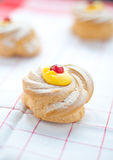 Zeppole san giuseppe typical sweet Italian naples Stock Photo