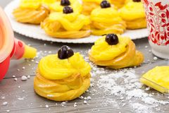 Zeppole for St. Joseph Stock Photography