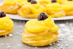 Zeppole for St. Joseph Stock Photo