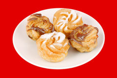 Zeppole of St. Joseph's day Royalty Free Stock Images