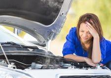 zepsuta dziewczyna samochodów Obraz Stock