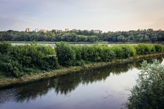 Zeran Canal in Warsaw. Zeran Canal of Vistula River in Warsaw, capital city of Poland royalty free stock photo