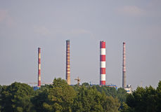 Zeran CHP chimneys Stock Images