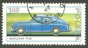 Zeran Factory, Warszawa M20. Poland - stamp printed 1976, Multicolor Memorable Edition printed in the style of engraving, Topic Automotive industry, Series 25th Stock Images