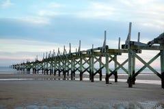 Zerbröckelnder Pier Stockbilder