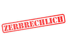 Zerbrechlich Stempel Royalty Free Stock Photos