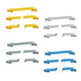 Zerbrochene Bänder eingestellt von den verschiedenen Farben Stockfotos