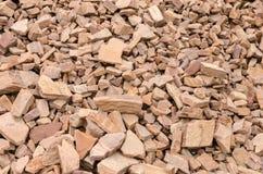 Zerbrochene Steine stockfotos