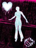 Zerbrochener Frauenvektor Stockbild