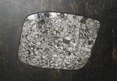 Zerbrochener Rückspiegel Stockbild