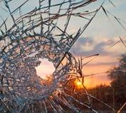 Zerbrochenes Glas Lizenzfreie Stockfotos