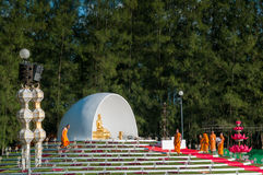 Zeremonie des buddhistischen Mönchs Lizenzfreie Stockfotos