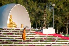 Zeremonie des buddhistischen Mönchs Stockfotos
