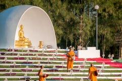 Zeremonie des buddhistischen Mönchs Lizenzfreies Stockfoto