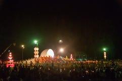 Zeremonie des buddhistischen Mönchs Stockfoto