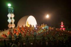 Zeremonie des buddhistischen Mönchs Stockfotografie