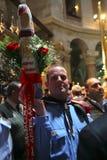 Zeremonie des heiligen Feuerwunders Stockfotos