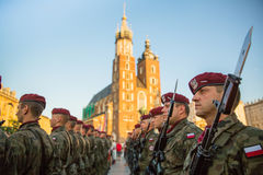 Zeremonie ist das Versprechen von ersten Klassen der Highschool Jan.s III Sobieski Lizenzfreie Stockbilder