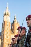 Zeremonie ist das Versprechen von ersten Klassen der Highschool Jan.s III Sobieski Stockfotografie