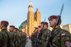 Zeremonie ist das Versprechen von ersten Klassen der Highschool Jan.s III Sobieski Stockfoto