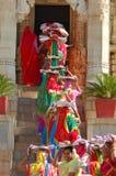 Zeremonie Jain am Ranakpur Tempel. Lizenzfreies Stockfoto