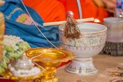 Zeremonie in Thailand Stockbild
