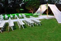 Zeremoniekabinendach der jüdischen Hochzeit (chuppah oder huppah) Stockbild