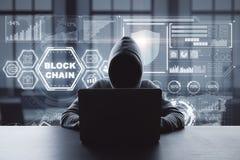 Zerhacken und Internet-Konzept lizenzfreies stockfoto