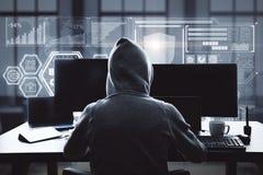 Zerhacken und Netzkonzept lizenzfreie stockfotografie