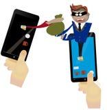 Zerhacken und Phishing Lizenzfreies Stockbild