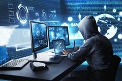 Zerhacken und Schadsoftwarekonzept stock abbildung