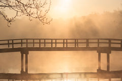 Zen bridge Royalty Free Stock Photo