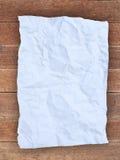 Zerknittern Sie Weißbuch Stockfoto