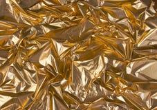 Zerknittert goldene Folie 1 Lizenzfreie Stockfotos