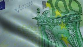 Zerknittert hundert Euro Bill Banknote Obverse