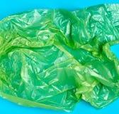 zerknittert polyethylen Klarsichtbeutel lizenzfreies stockbild