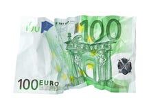 Zerknitterte Banknote. Stockbild