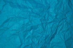 Zerknitterte Beschaffenheit des blauen Papiers Stockbilder