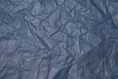 Zerknitterte Beschaffenheit des blauen Papiers Stockfotografie