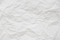 Zerknitterte Beschaffenheit des Weißbuches stockbild
