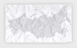 Zerknitterte Karte Stockfoto