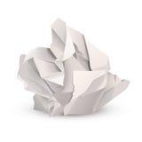 Zerknitterte Papierkugel Stockfotos
