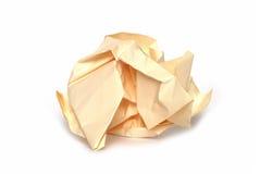 Zerknitterte Papierkugel Lizenzfreies Stockbild