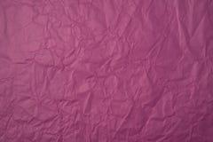 Zerknitterte rosa Papierbeschaffenheit Lizenzfreie Stockfotos