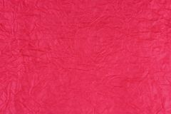 Zerknitterte rote rosa Papierbeschaffenheit Stockfoto