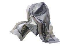 Zerknitterte Währungsbezeichnung Stockfoto