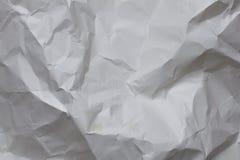 Zerknitterte Weißbuch-Beschaffenheit Lizenzfreie Stockfotografie