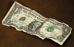 Zerknitterter Dollar stockfotos